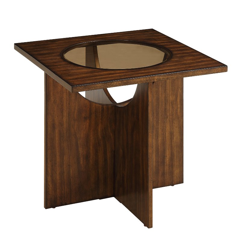 . Modern Cherry Brown Wood End Table   Akita   RC Willey Furniture Store