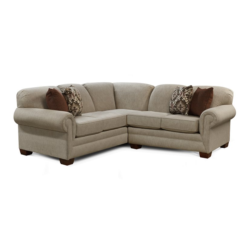 Beige 2 Piece Sectional Sofa With Laf Loveseat Monroe Rc Willey