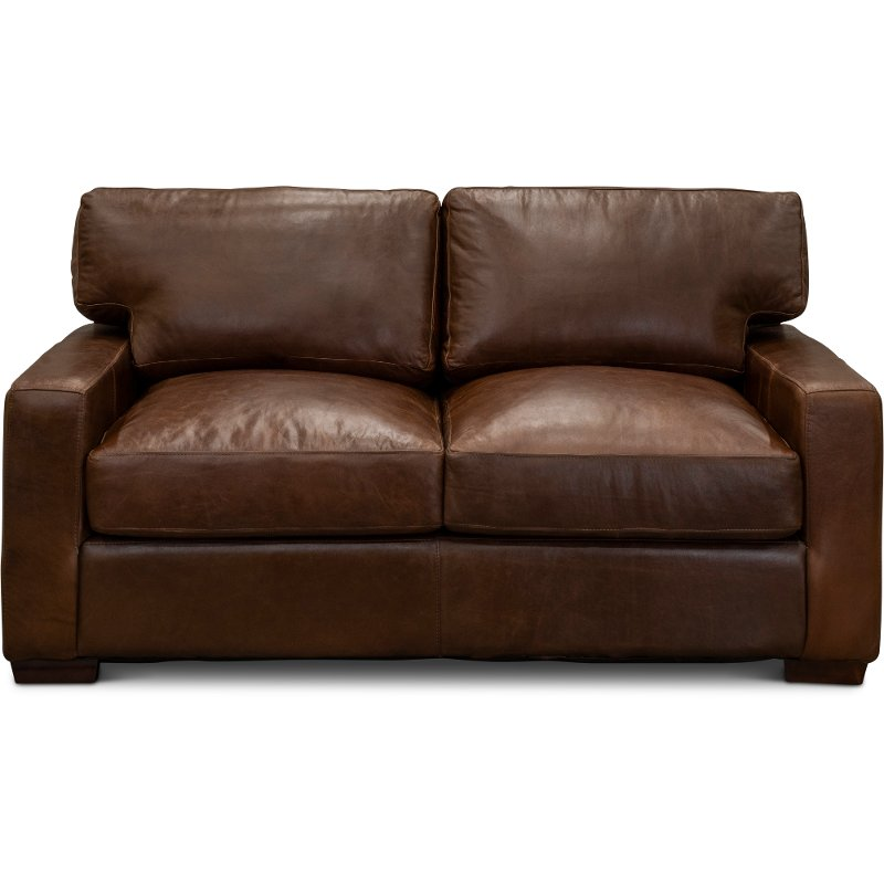 Fantastic Contemporary Brown Leather Loveseat Native Gmtry Best Dining Table And Chair Ideas Images Gmtryco