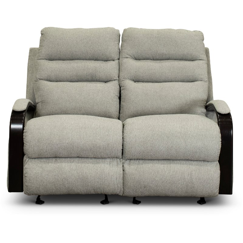 Enjoyable Pebble Gray Manual Gliding Reclining Loveseat Jansen Pabps2019 Chair Design Images Pabps2019Com