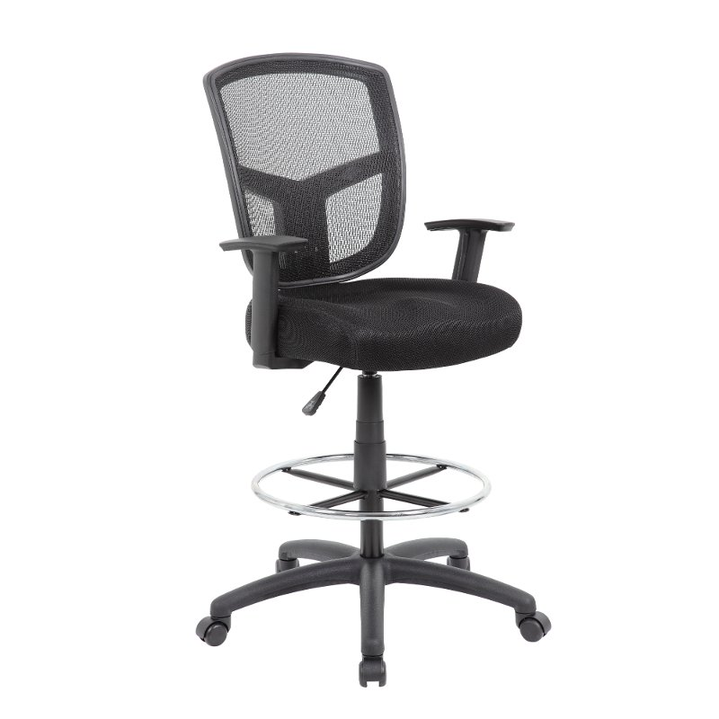 Swell Black Mesh Office Drafting Chair Drafting Chair Series Dailytribune Chair Design For Home Dailytribuneorg