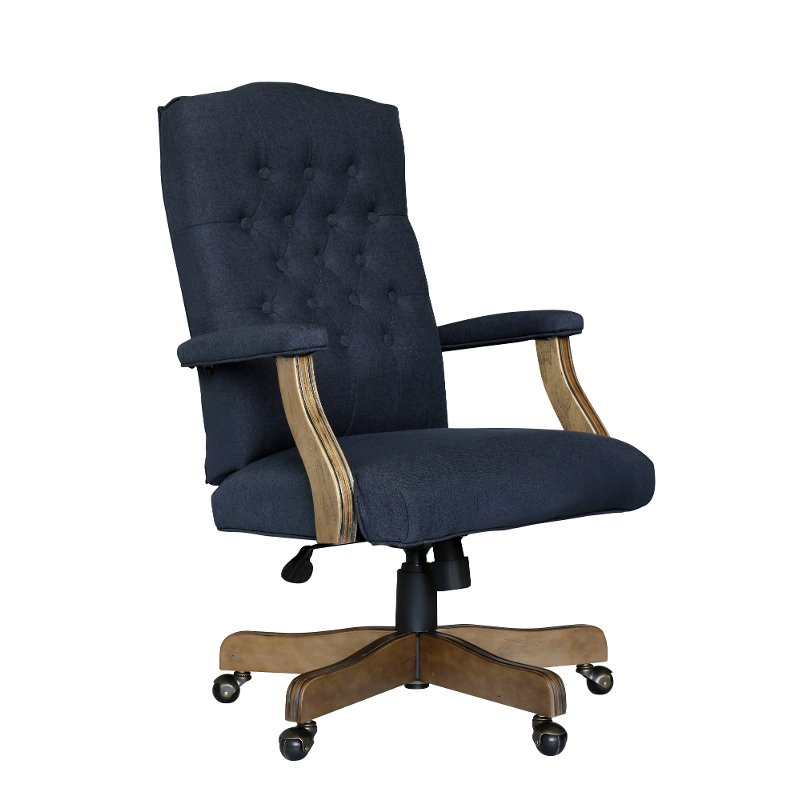 Navy Tufted Office Chair Executive Tufted Series Rc
