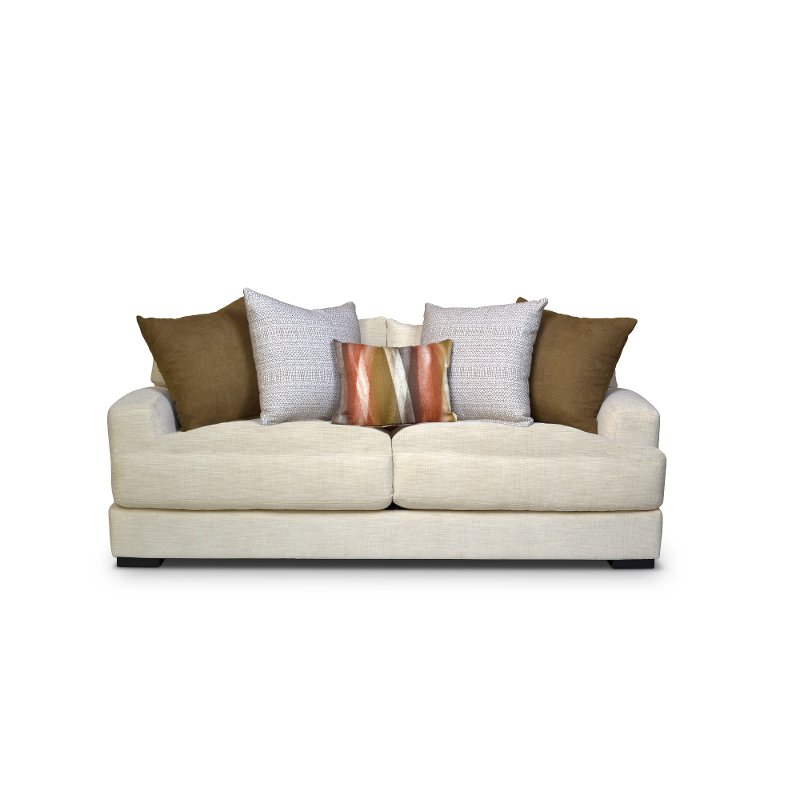 Contemporary Ivory White Sofa Carlin Rc Willey Furniture Store