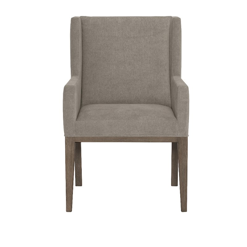 Modern Charcoal Gray Upholstered Dining Arm Chair - Linea