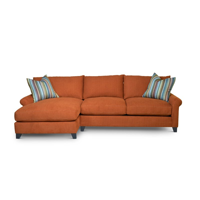 Orange 2 Piece Sectional Sofa with LAF Chaise - Owen | RC Willey ...