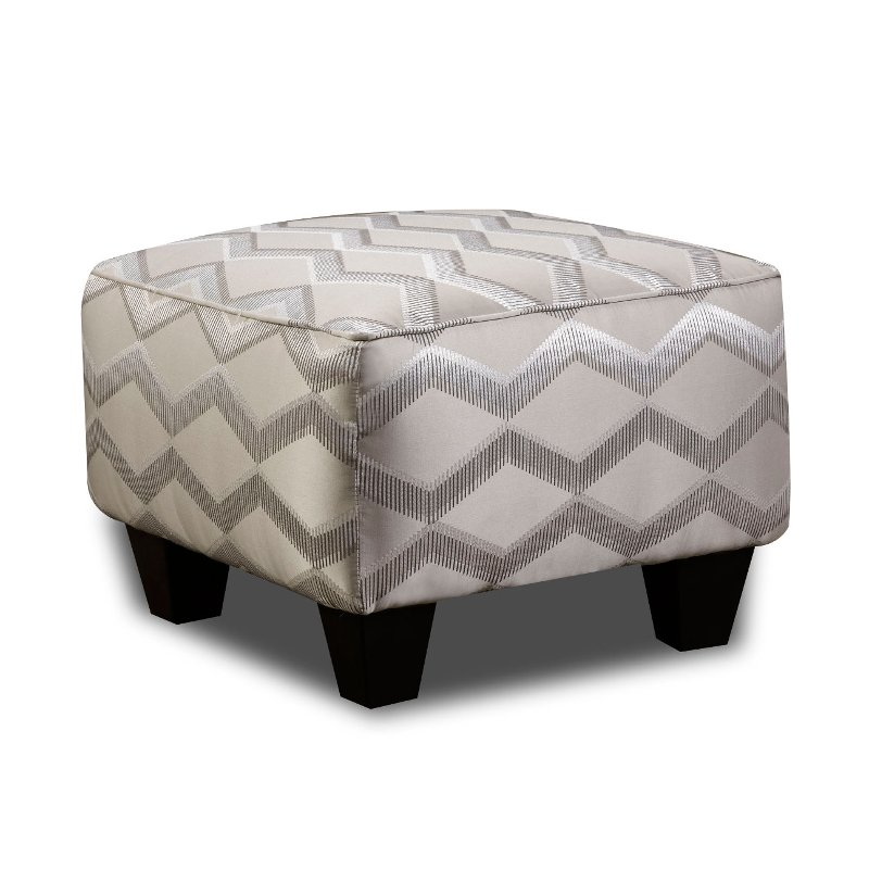 Rc Willey Sacramento: Traditional Platinum Accent Ottoman - Camino