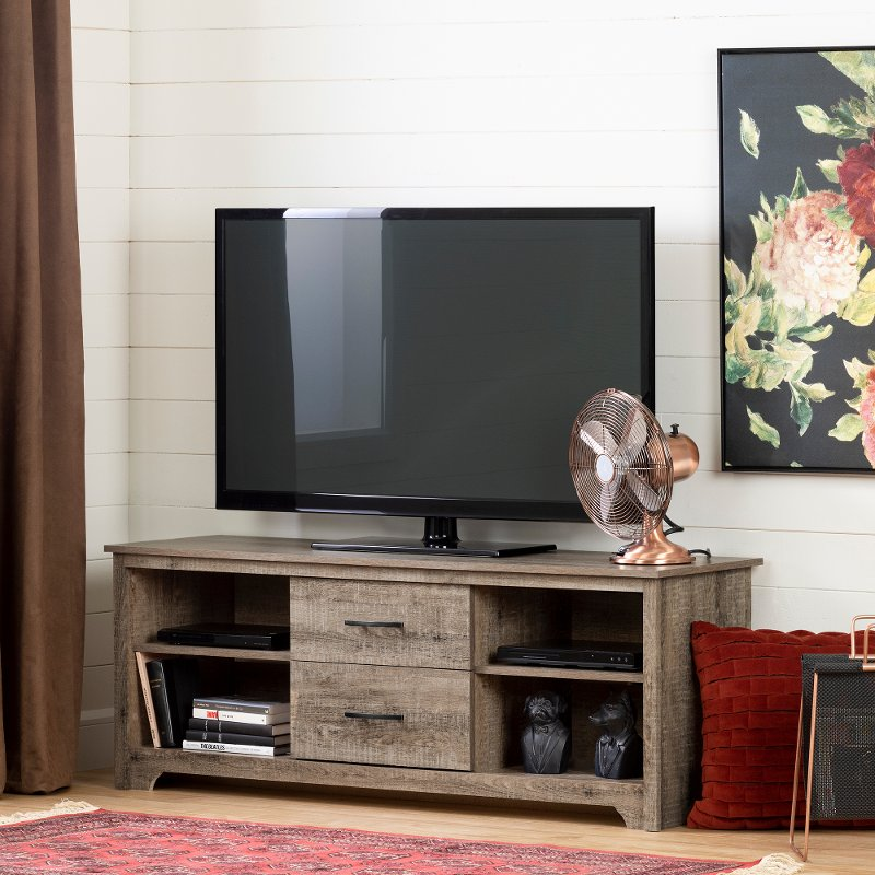 Weathered Oak 60 Inch Tv Stand Fusion Rc Willey Furniture Store