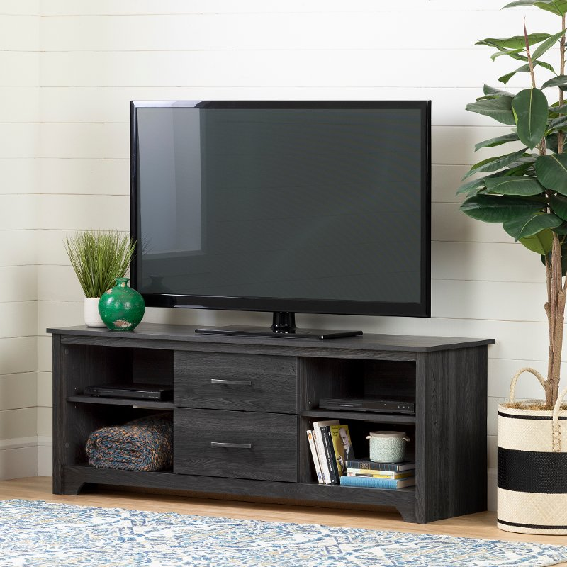 Gray Oak 60 Inch Tv Stand Fushion Rc Willey Furniture Store
