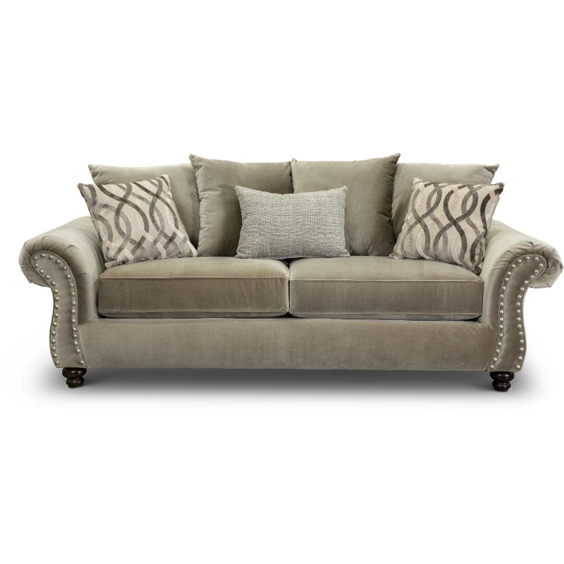 Traditional Taupe Sofa Richmond