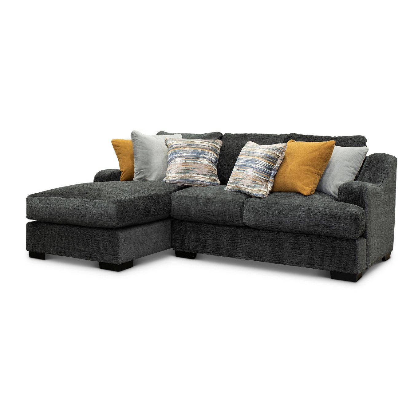 Gray 2 Piece Sectional Sofa With Laf Chaise Challenger Rc Willey Furniture Store