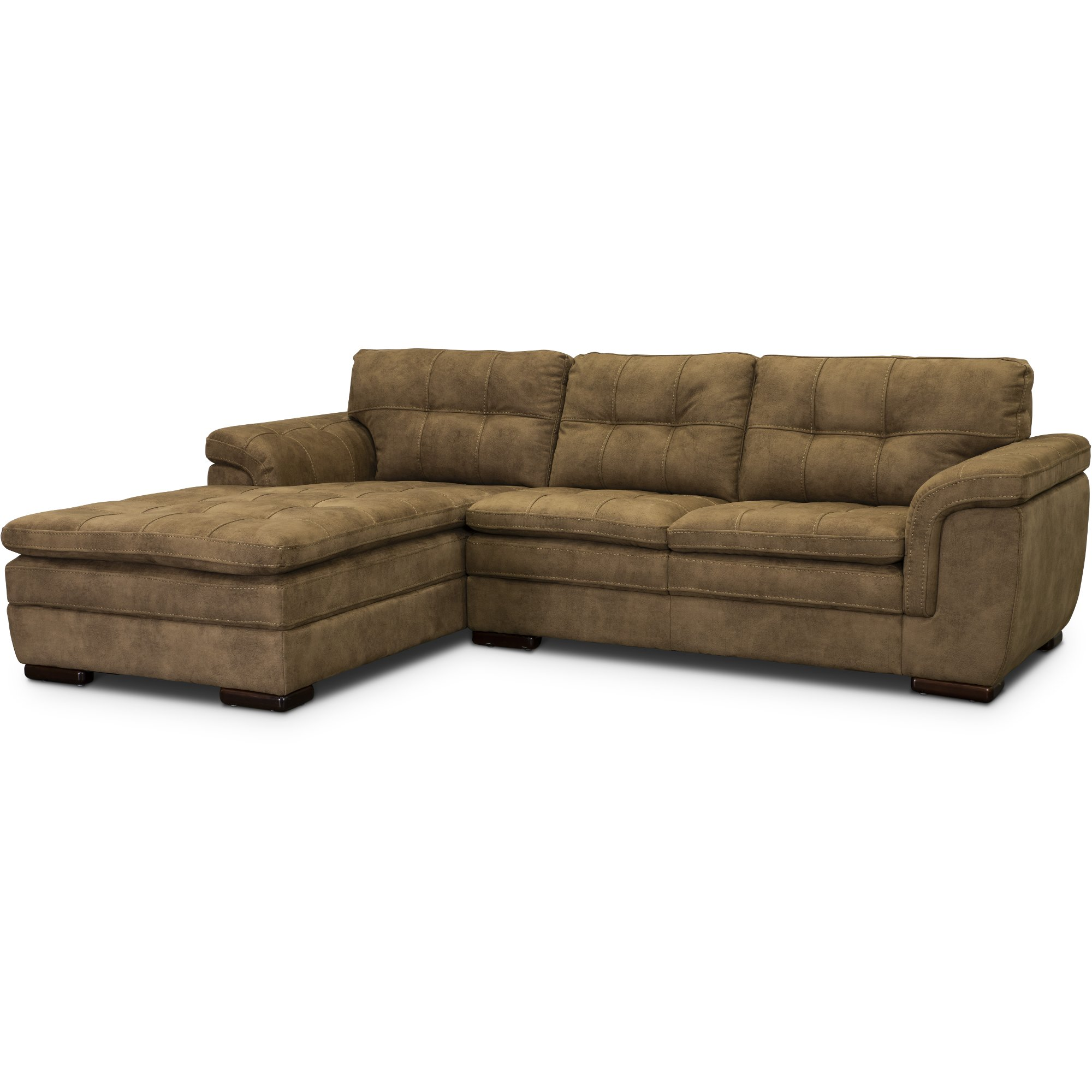 Taupe Brown 2 Piece Sectional Sofa With Laf Chaise Sandy