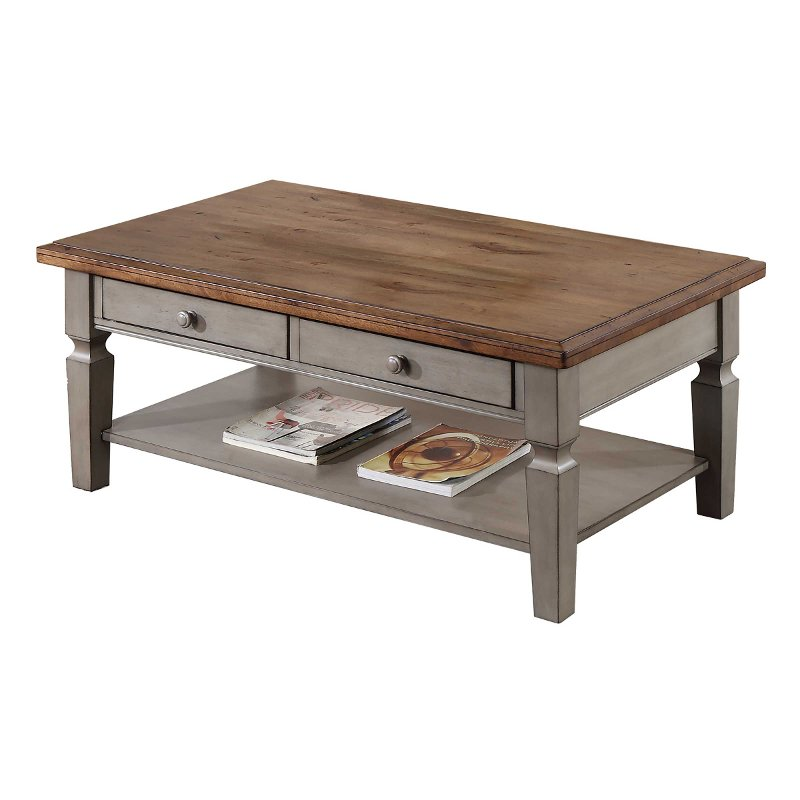 Two Tone Country Cottage Coffee Table Barnwell