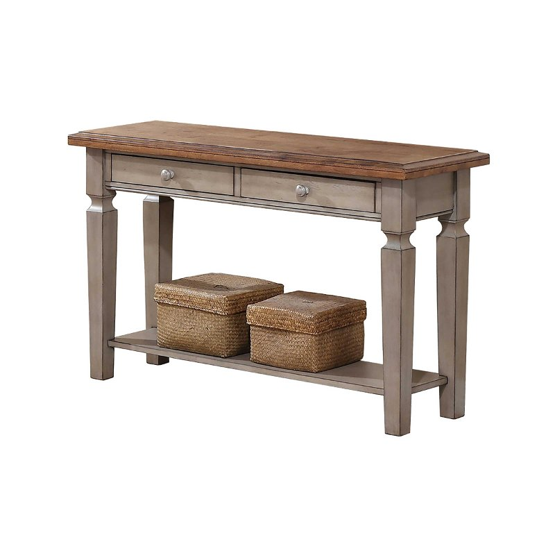 Two Tone Country Cottage Sofa Table Barnwell