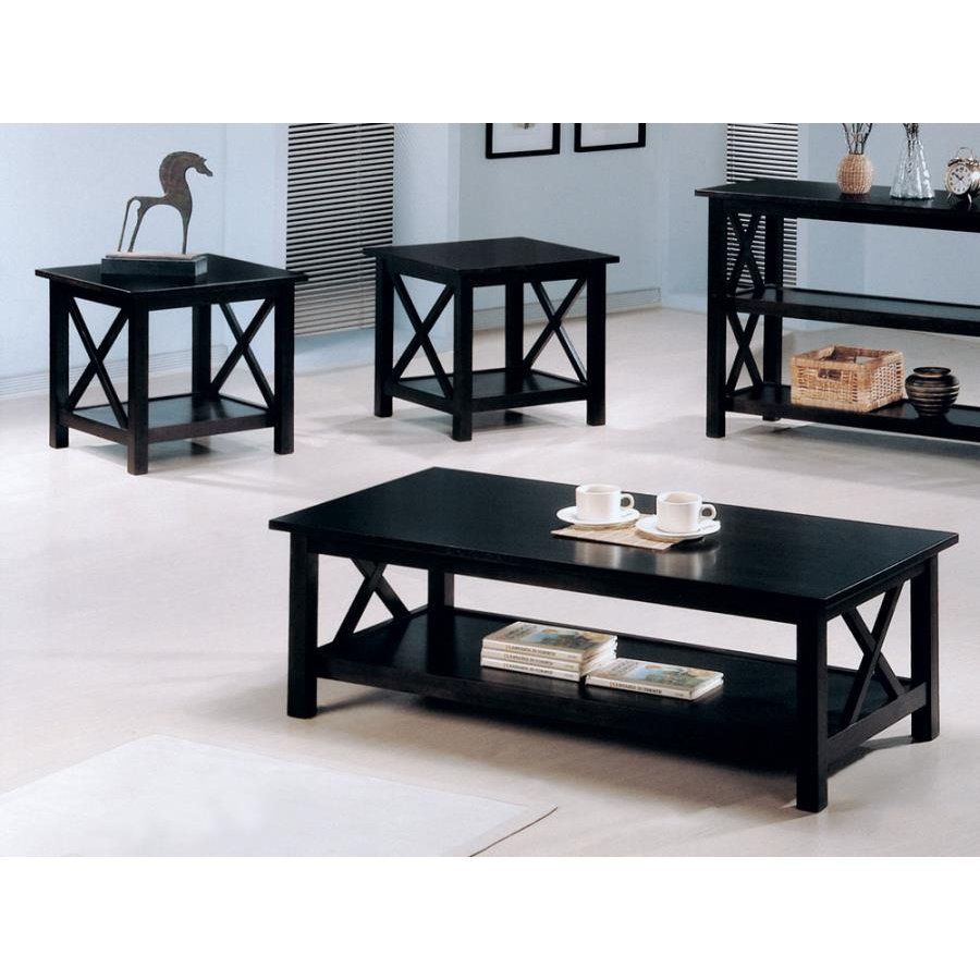 Wooden End Table Set of 3