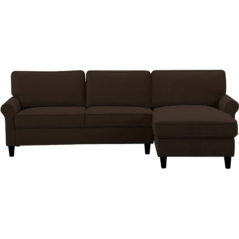 Chocolate Brown Sectional Sofa Maryland Rc Willey Furniture Store