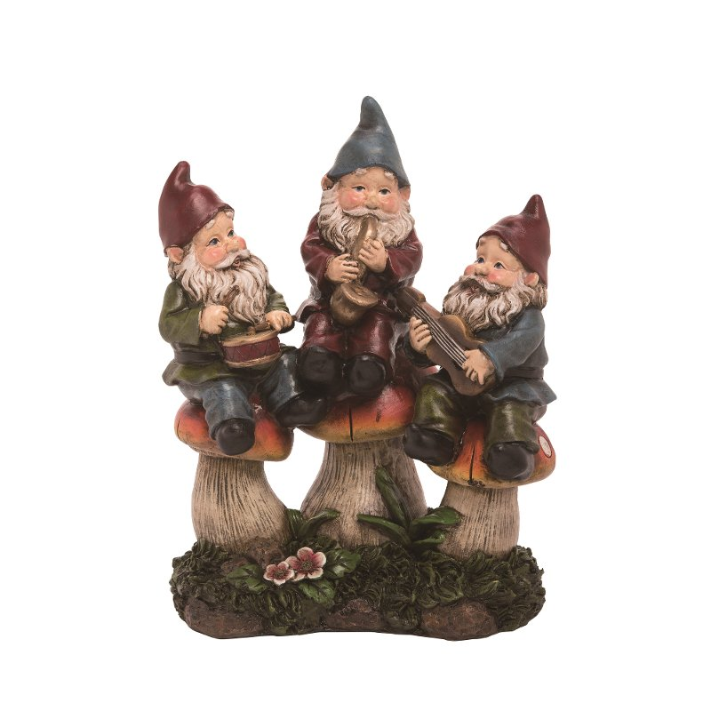 Rc Willey Salt Lake: Resin Gnome Figurine Sculpture With Musical Instruments