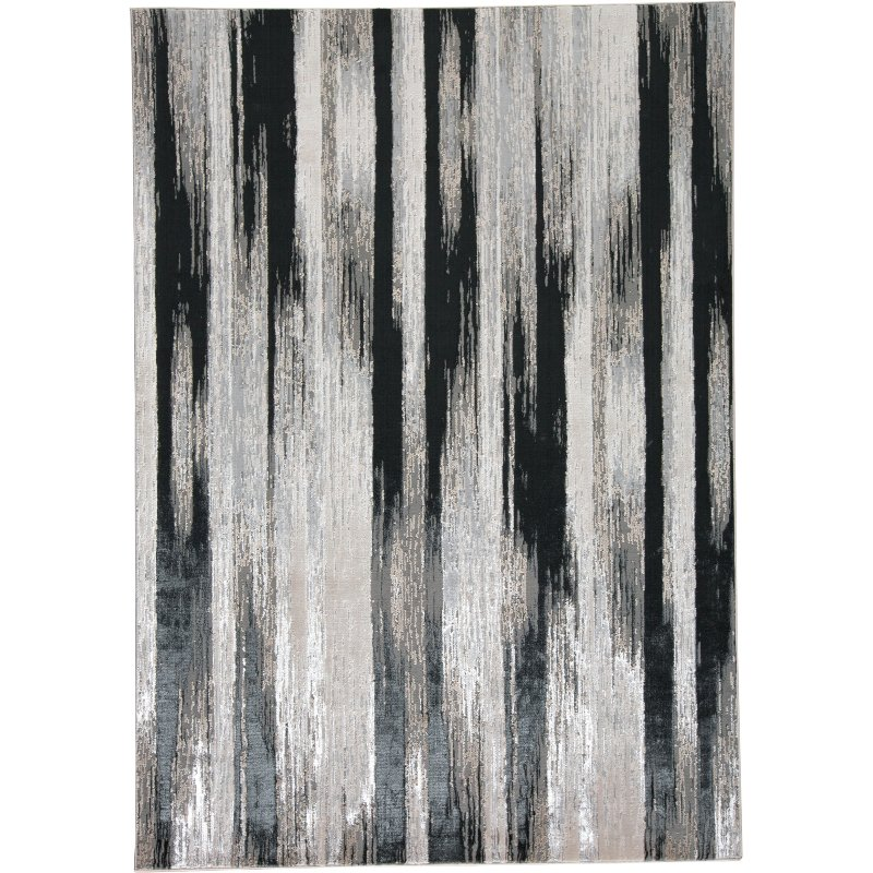 Contemporary Black And Silver Area Rug