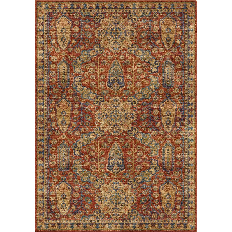 8 X 10 Large Ay Red Area Rug Alexandria