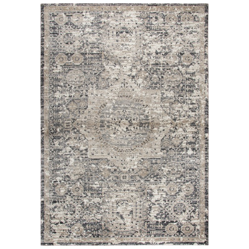 5 X 8 Medium Traditional Gray And Beige Area Rug Panache Rc Willey Furniture Store