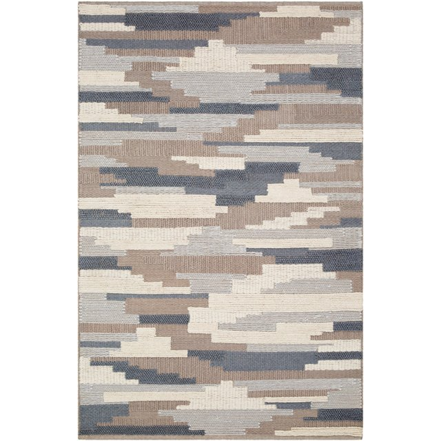Denim Blue And Taupe Area Rug