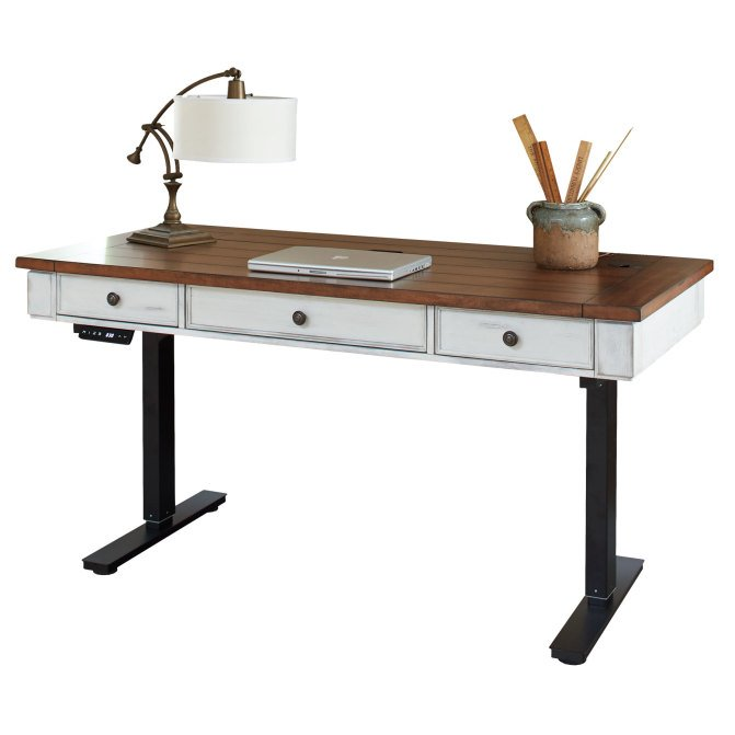 Country Adjustable Sit Stand Desk Durham Rc Willey Furniture Store