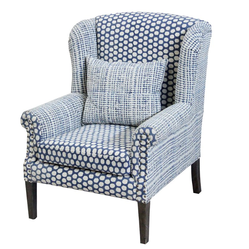 Groovy Blue And Cream Patterned Accent Chair Walstead Gamerscity Chair Design For Home Gamerscityorg