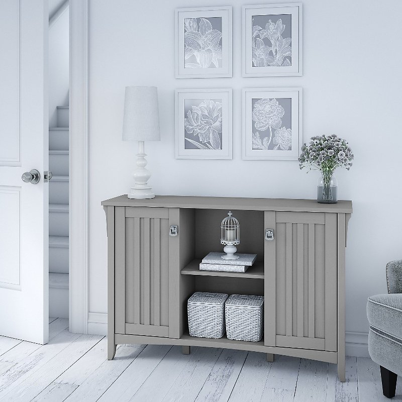 Fabulous Cape Cod Gray Accent Storage Cabinet With Doors Salinas Interior Design Ideas Skatsoteloinfo