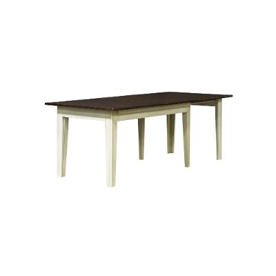 TOL-CH-6-17-L Farmhouse Cream and Brown Large Dining Room Table - Toluca
