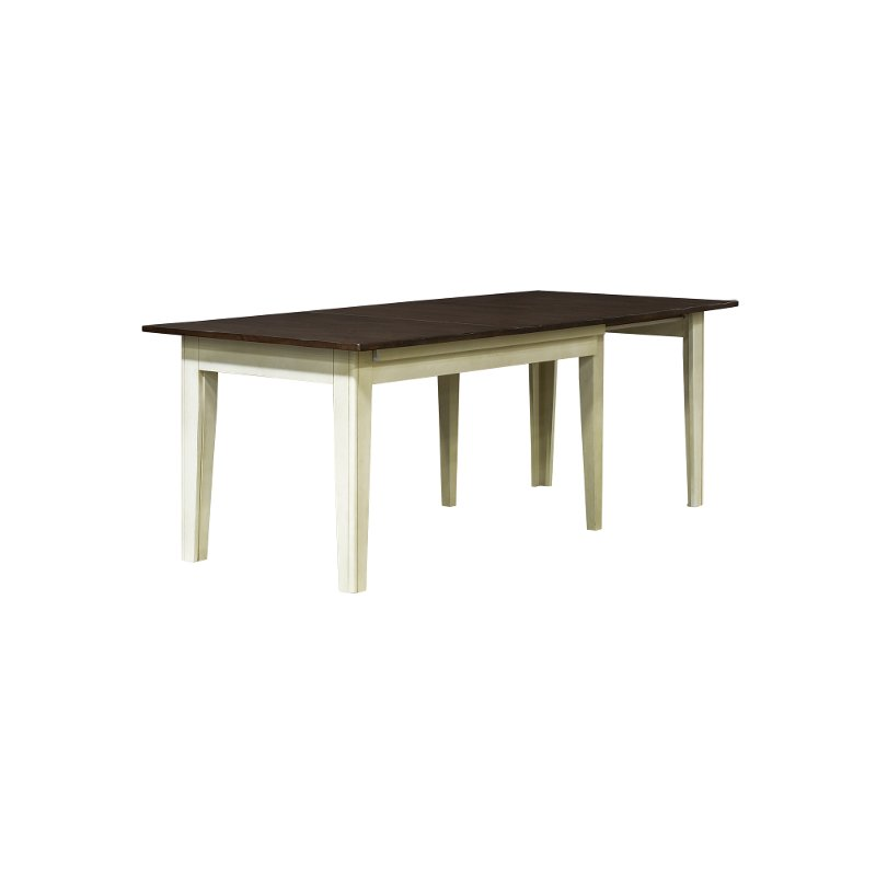 Farmhouse Cream and Brown Large Dining Room Table - Toluca