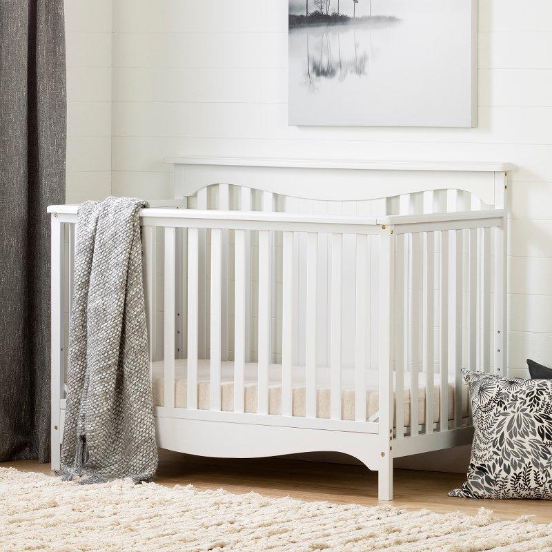 Clic White Crib With Toddler Rail Savannah