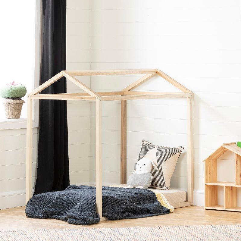 Modern Natural Toddler Bed Frame - Sweedi