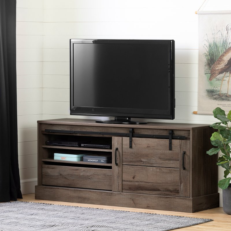65 Inch Fall Oak Tv Stand Harma Rc Willey Furniture Store
