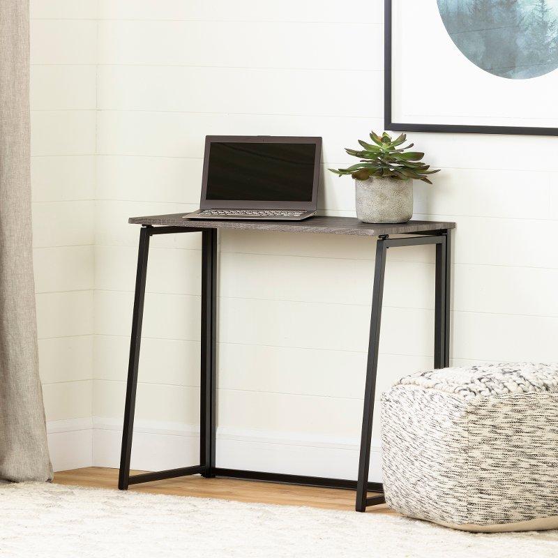 Marvelous Natural White Oak Industrial Folding Desk Evane Download Free Architecture Designs Scobabritishbridgeorg