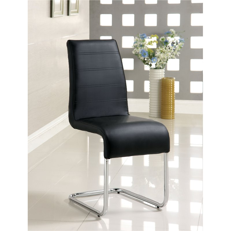 Sensational Modern Black And Chrome Dining Room Chair Mauna Caraccident5 Cool Chair Designs And Ideas Caraccident5Info