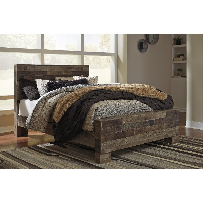 Modern Farmhouse Rustic Queen Bed Broadmore Rc Willey Furniture Store