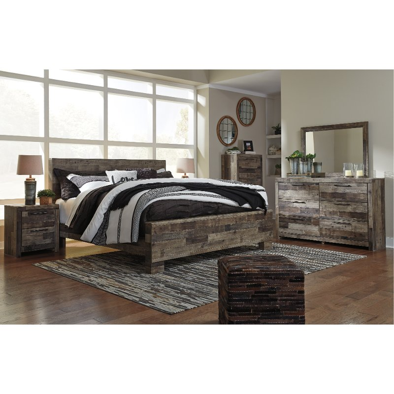 Modern Rustic 4 Piece King Bedroom Set Broadmore Rc Willey