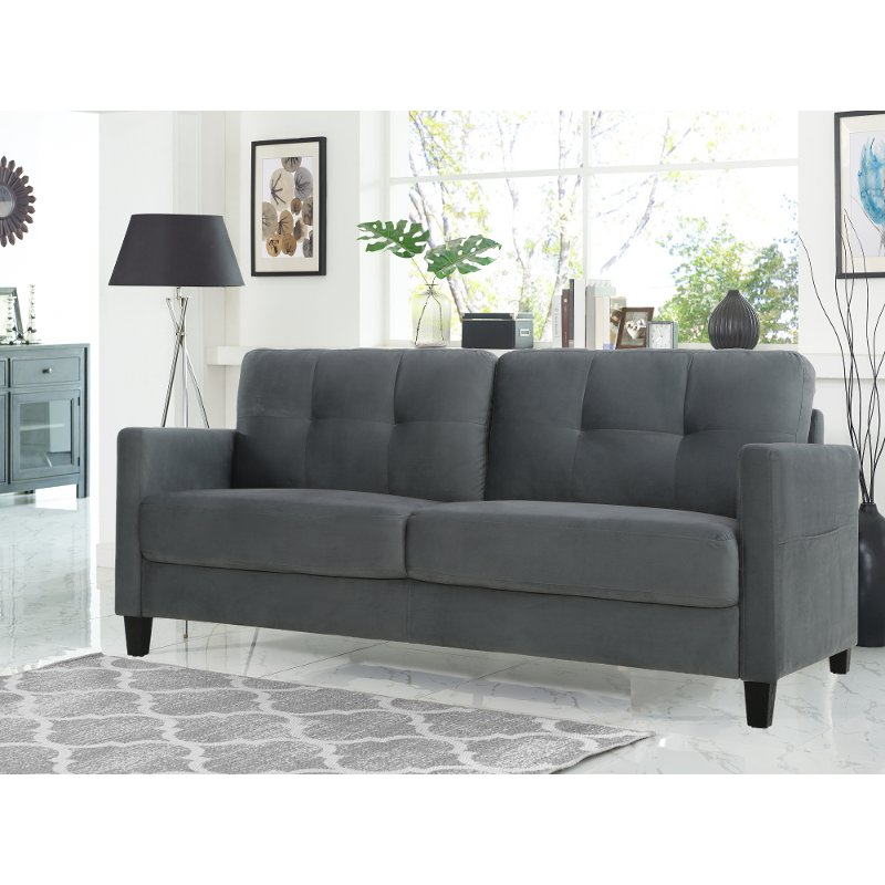 Contemporary Gray Sofa Tulsa Rc Willey Furniture Store