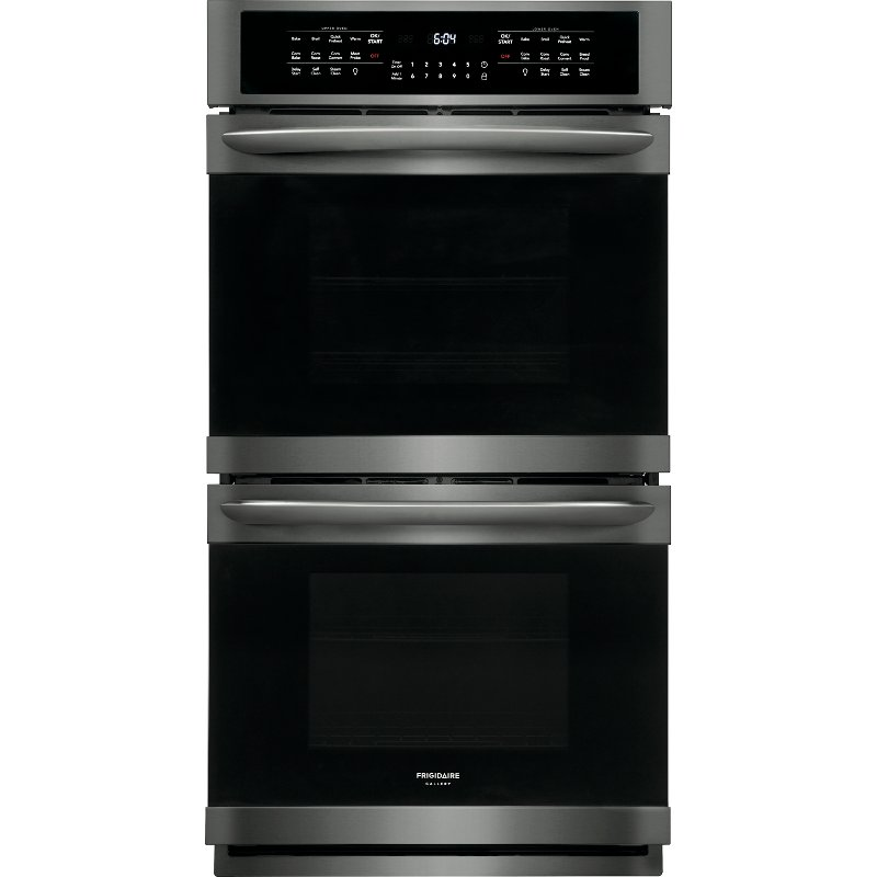 Fget2766ud Frigidaire Gallery 27 Inch Double Wall Oven 7 6 Cu Ft Black Stainless