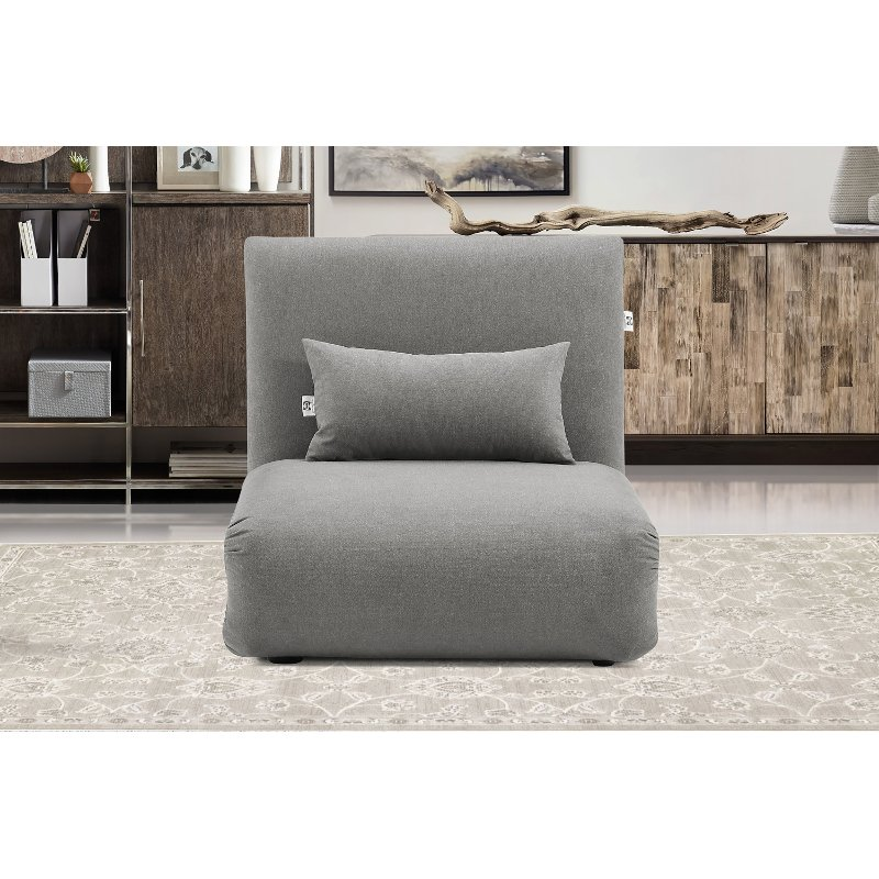 Enjoyable Slate Gray Folding Theater Lounger Chair And Fold Out Bed Sutton Machost Co Dining Chair Design Ideas Machostcouk