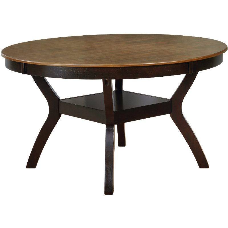 Brown 54 Inch Round Dining Room Table Jackson Rc Willey Furniture Store