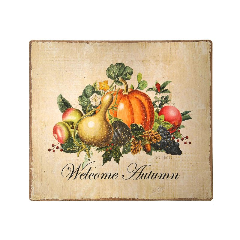 Rc Willey Slc Ut: 16 Inch Multi Color Painted Welcome Autumn Sign