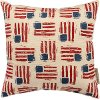 Red, Cream and Blue Flag Throw Pillow