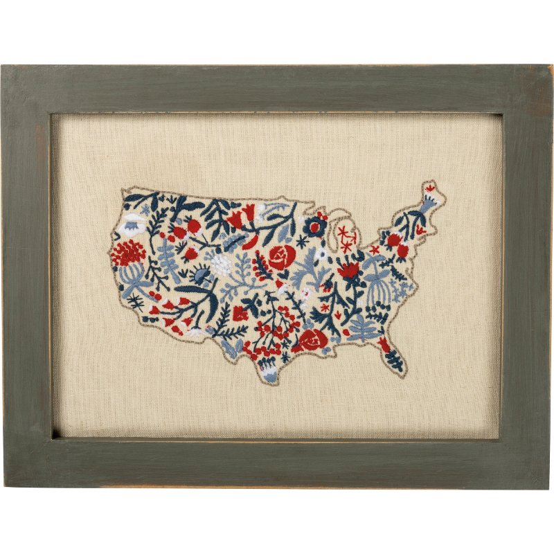 Sched Red, White and Blue Floral Map Framed Wall Decor on map lamp shade, map room divider, map travel, map venezuela flag, map in india, map in europe, map with states, map facebook covers, map cornwall uk, map tools, map recipe, map cross stitch, map of montana, map with mountains, map se usa, map color, map games, map design, map with title, map example,