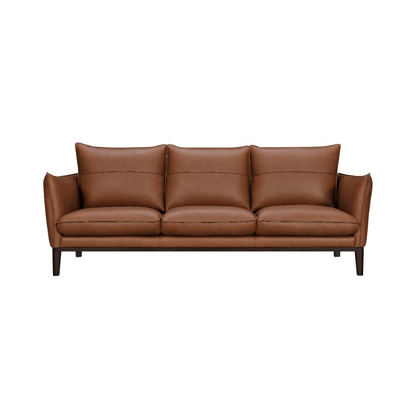 Modern Brown Leather Sofa Rangers