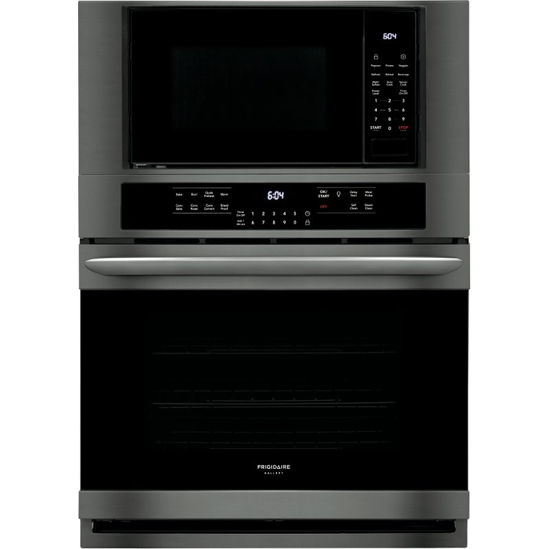 Frigidaire Gallery 30 Inch Combination Wall Oven With Microwave Black Stainless Steel