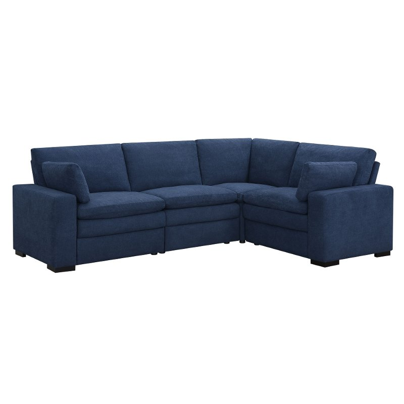 Cool Navy Blue 4 Piece Power Reclining Sectional Sofa Infinity Alphanode Cool Chair Designs And Ideas Alphanodeonline