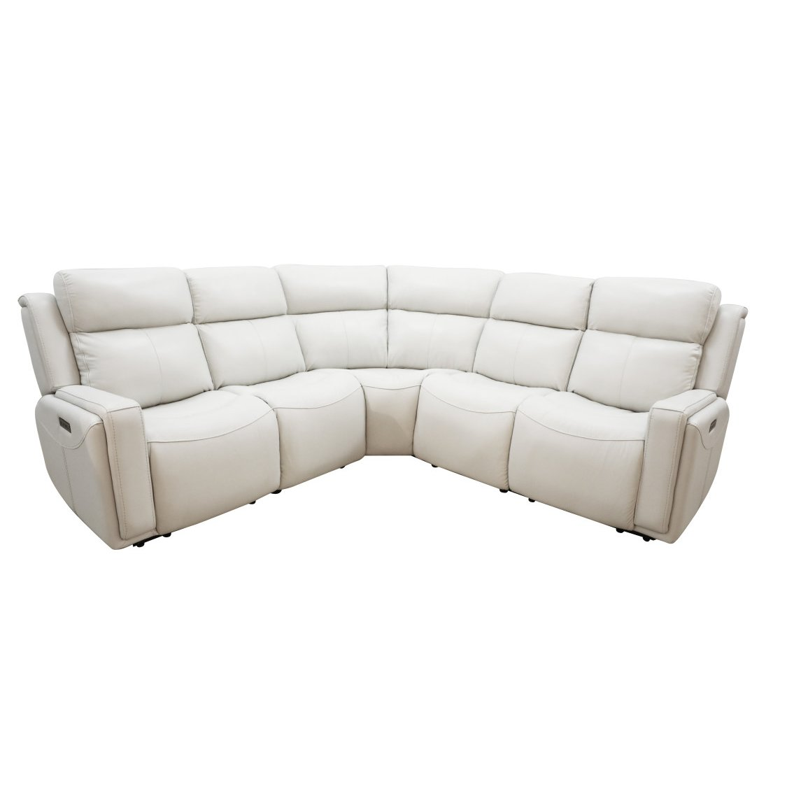 Terrific Ice White Leather Match Power Reclining Sectional Sofa Stratus Gmtry Best Dining Table And Chair Ideas Images Gmtryco