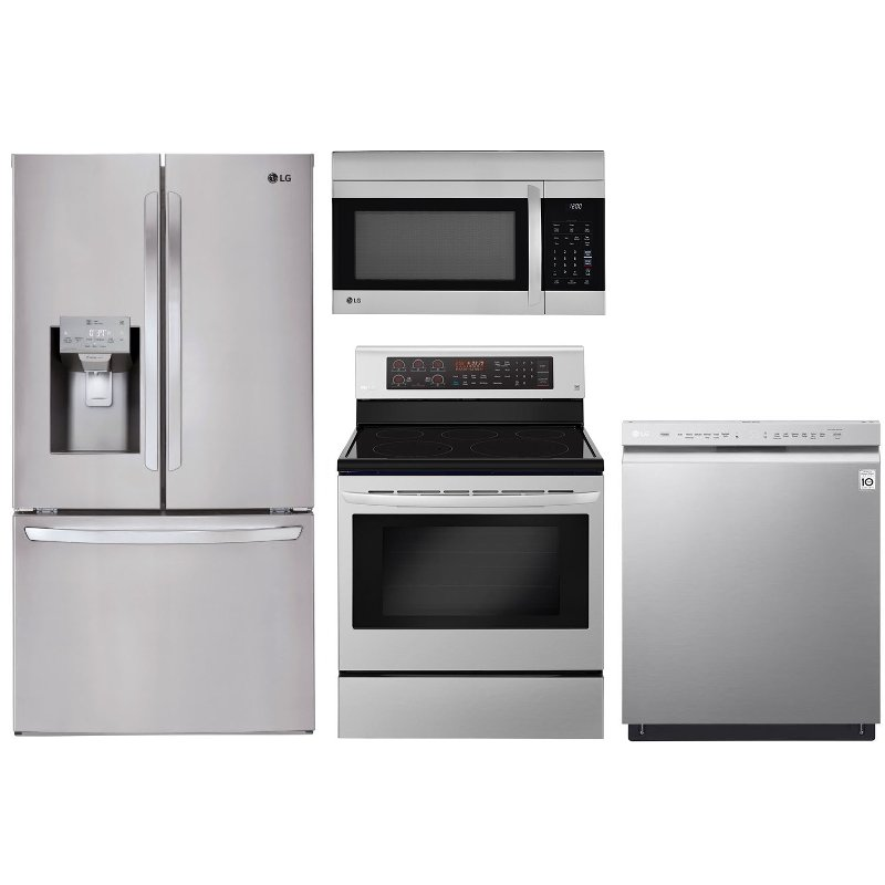 Lg Kitchen Appliances: LG 4 Piece Electric Kitchen Appliance Package With French