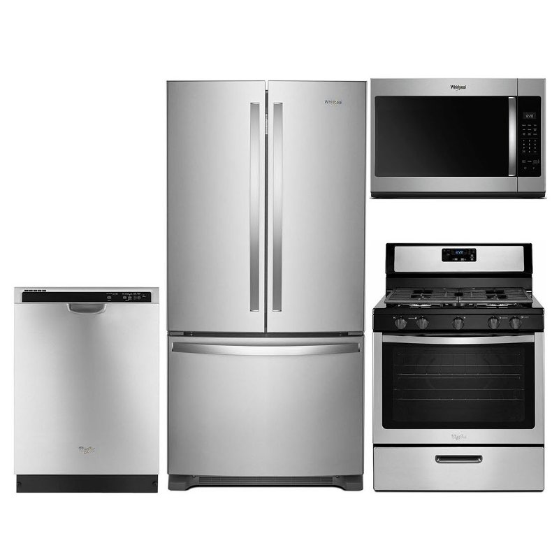 Whirlpool 4 Piece Gas Kitchen Appliance Package With
