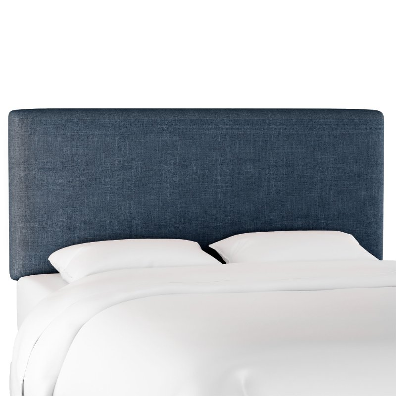 Contemporary Navy Blue Full Upholstered Headboard Rc Willey Furniture Store